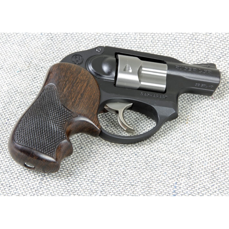 Lcr In Hand : Ruger lcr and lcrx secret service rosewood checkered grips