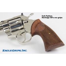 "Colt Python Walnut ""Second Type"" Heritage Checkered Grips"